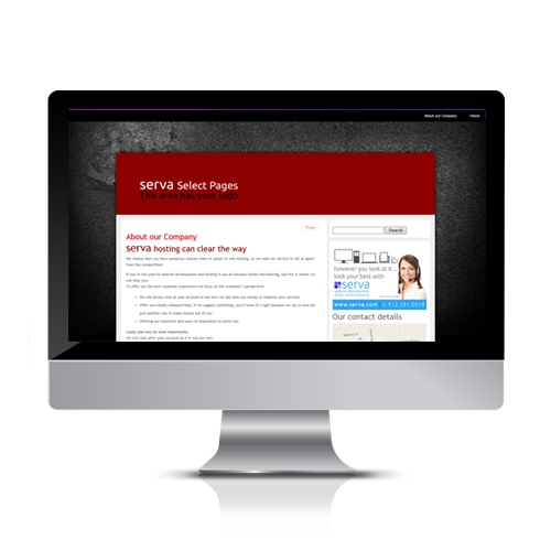 Start up website design for a minimal monthly payment for your local web presence